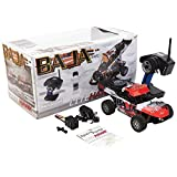 LiteHawk Baja RC 4WD Sand Buggy Truck, Red and Orange
