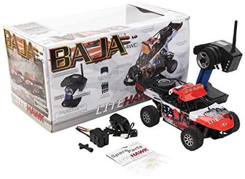 LiteHawk Baja RC 4WD Sand Buggy Truck, Red