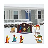 Nativity Scene Christmas Yard Decoration Card Set! (8pcs, 17 Short Stakes)