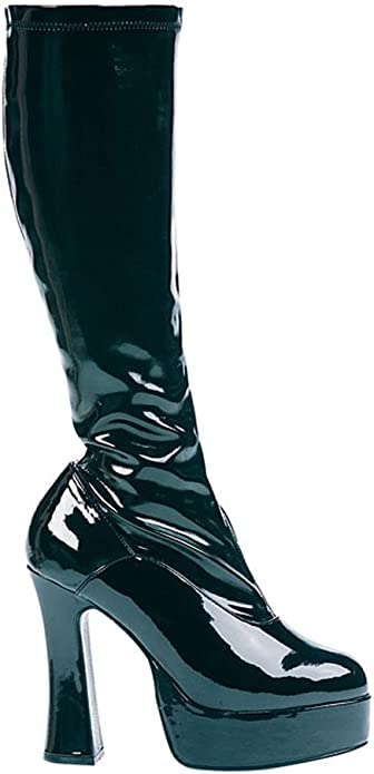 Boot Chacha Platform Go Go Adult Womens 4.5 inch Heel Costume Patent Leather