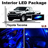 Ameritree Toyota Tacoma 2007-2015 ( 5 Pieces ) Blue LED Lights Interior Package + Blue LED License Plate Kit