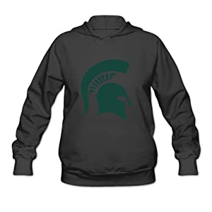 EVALY Women's Cool Michigan State University Pullover Hoodie Black