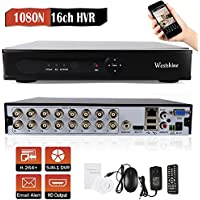 Westshine 16CH 1080P Lite AHD/TVI/CVI/Analog/IP Hybrid DVR, H.264 HD 1920x1080P CCTV Surveillance Digital Video Recorder, Support Onvif Motion Detection, Email Alert(NO HDD)
