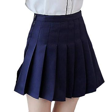 ChengZhong Falda Corta de Tenis para Mujer con Pliegues de Cintura ...