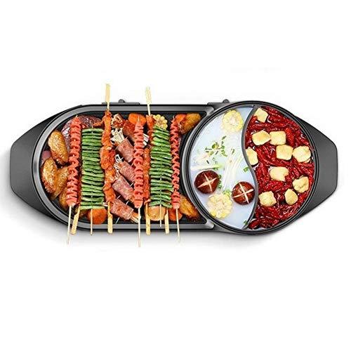 Dual Use Electric Grill BBQ Shabu Hot Pot Multipurpose One-P