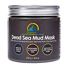 My-Organic-Zone Dead-Sea-Mud-Mask for Face-and-Body Deep-Pore-Cleansing, Acne-Treatment, Anti-Aging and Anti-Wrinkle, Organic Natural Facial-Mask for Smoother and Softer Skin (250 grams/8.8 ounces)
