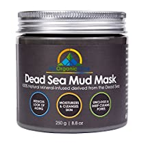 My Organic Zone Dead Sea Mud Mask for Face and Body Deep Pore Cleansing, Acne Treatment, Anti Aging and Anti Wrinkle, Organic Natural Facial Mask for Smoother and SofterSkin (250 grams/8.8 ounces)