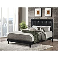 Bowery Hill Faux Leather King Bed in Black