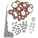 MonkeyJack Set Alto Saxophone Repair Tools Parts Pad Screws Sound Hole Pad Nut Screws Woodwind Instrument Accessory