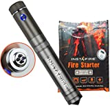InstaFire Crossfire Electric Plasma Lighter with Natural Fire Starter - Dual Arc Plasma Lighter with Military Grade Fire Starter - Perfect for Camping Gear, Survival Equipment, and Backpacking Needs
