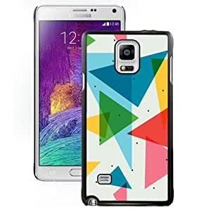 New Personalized Custom Designed For Samsung Galaxy Note 4 N910A N910T N910P N910V N910R4 Phone Case For Colorful Triangles Pattern Phone Case Cover