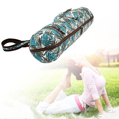 Gracefulvara Canvas and Polyester Liner Material Adjustable Strap Yoga Mat Bag Full Zipper Storage Compartments Yoga Mat Bag