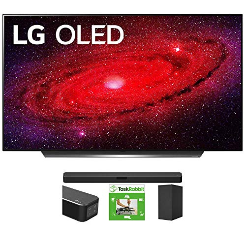 LG OLED48CXPUB 48-inch CX 4K Smart OLED TV with AI ThinQ (2020) Bundle SN5Y 2.1 Channel Hi-Res Audio Sound Bar with DTS Virtual:X and Taskrabbit Installation Service