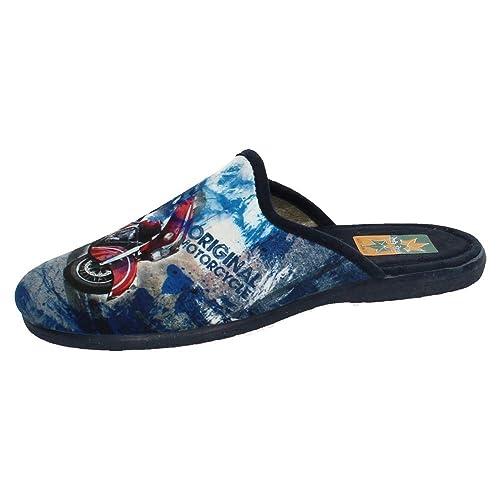 RUIZ BERNAL 961 Chinelas Moto Hombre Zapatillas CASA Azul 40: Amazon.es: Zapatos y complementos
