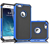 Tekcoo iPhone 6S Case, Tekcoo iPhone 6 Sturdy Case,[Tmajor] for iPhone 6 / 6S (4.7 INCH) Case Shock Absorbing Impact Defender Slim Cover Shell w/Plastic Outer & Rubber Silicone Inner [Blue/Black]
