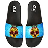 Cartoon Cute Pineapple Sunglasses Summer Slide Slippers For Boy Girl Outdoor Beach Sandal Shoes size 2