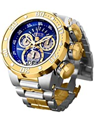 Invicta Mens Reserve Quartz Silver and Gold and Stainless Steel Casual Watch, Color:Two Tone (Model: 21605)