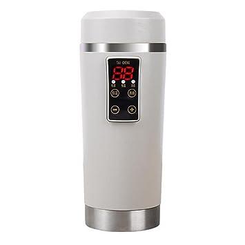 KRISMILEN Coche taza eléctrica 12V un agua hervida de vidrio calentador portátil de viaje de aislamiento