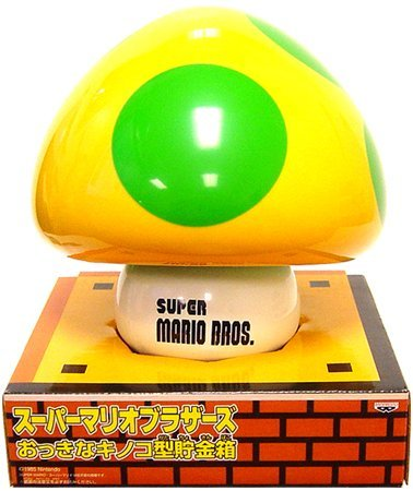 Super Mario Bros 1-Up Mushroom Coin Bank by Super Mario ()