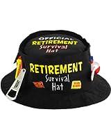 "Amscan Fun-Filled Retirement Party ""Official Retirement"" Survival Hat, Black, 11.5 x 11.5"""