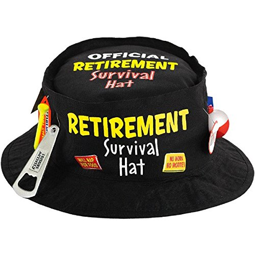 Retirement Party Survival Hat, 3 5/8