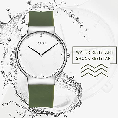 Womens Watches,Lady Simple Fashion Design Casual Business Dress Analogue Quartz Silicone Wrist Watch (Green) by ASWAN WATCH (Image #5)