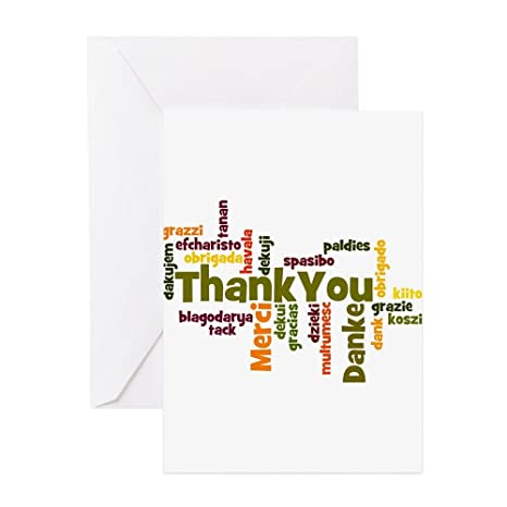 Amazon cafepress thank you word cloud in different languages cafepress thank you word cloud in different languages greeting card 20 pack m4hsunfo
