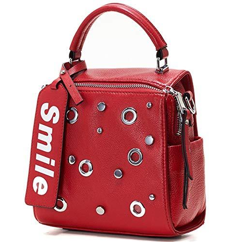 La Blanco Portátil Cuero Señoras Ywx Señora Las Capa Cuadrado Primera Asas Bolsa Moda color Bolso De Pequeño Hombro Invierno Rojo 14qgZ