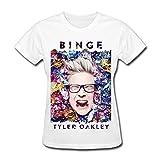 JIAYUHUA Women's Binge Tyler Oakley T-shirt L