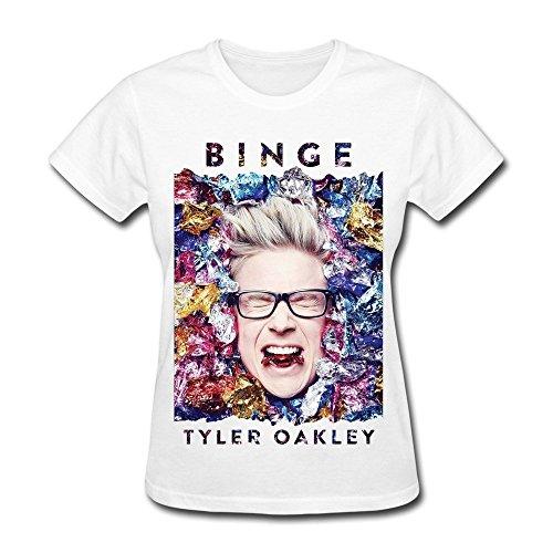 JIAYUHUA Women's Binge Tyler Oakley T-shirt - Hotel Oakley