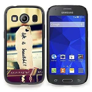 "Qstar Arte & diseño plástico duro Fundas Cover Cubre Hard Case Cover para Samsung Galaxy Ace Style LTE/ G357 (Libros de Viaje Hermosa Vignette Vida"")"