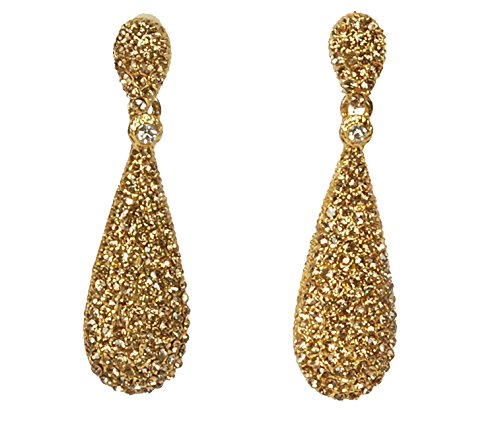 Moonstruck-Champagne-Diamond-Golden-Drop-Earrings-For-Women