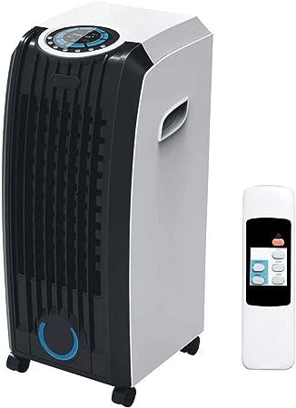 Bakaji RAFFRESCATORE Ventilador Humidificador Portatil DCG ad Agua Hielo 3 Velocita recipiente Agua 4 L mando a distancia y ruedas (34 x 29 x 70,5 cm blanco negro: Amazon.es: Hogar