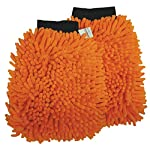 SOBBY Microfibre Wash and Dust Chenille Mitt Cleaning Gloves (2 PCS Single Sided, Extra Large, Big Chenille Mitt Glove