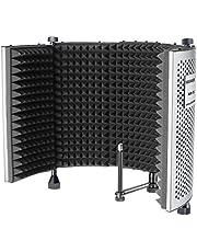 Neewer NW-5 Panel de Aislamiento Voz Portátil Plegable Ajustable para Micrófono de Protección de Aluminio con Espuma de Alta Densidad Pies Antideslizantes