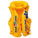 Deluxe Inflatable Swim Vest Jacket, Pool School Swim Vest Jacket for Kids Children Young Swimmers Pool Float Ages 3 to 6 Years - Yellow
