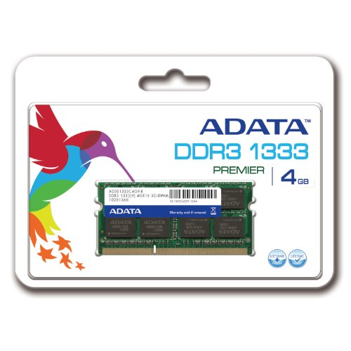 ADATA Premier DDR3 1333MHz 4GB Memory Modules (AD3S1333C4G9-R)