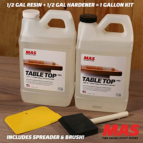 Crystal Clear Epoxy Resin One Gallon Kit   MAS Table Top Pro