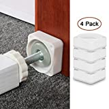 Baby Gate Wall Cups,4 Pack Dog Gate Wall Protection Guard Saver Prevent Damage from Wall Surface, Door, Wooden Stairs, Fit for Bottom of Pressure Gate, Doorway, Stairs, Baseboard