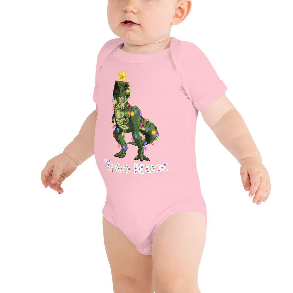 Tree Rex Baby Bodysuits Baby Shirt Christmas Dinosaur T Rex Christmas Tree