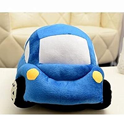 Dongcrytal 13.8 Inches Beetle Car Model Soft Pillows Stuffed Plush Car Toy Blue Cushion: Toys & Games