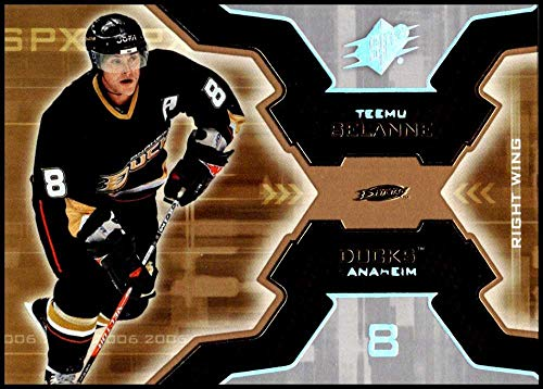 (2006-07 SPx #2 Teemu Selanne NM-MT Anaheim Mighty Ducks Anaheim Ducks Official NHL Hockey Card)