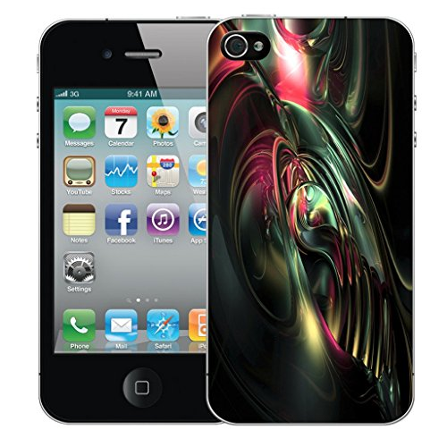Mobile Case Mate iPhone 4 Silicone Coque couverture case cover Pare-chocs + STYLET - Imminent pattern (SILICON)