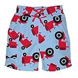 i play. Baby Boys' Ultimate Swim Diaper Pocket Light Blue Tractor Trunk Short