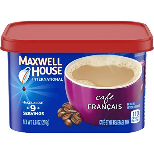 Maxwell House International Cafe Francais Cafe Style Beverage Mix, Caffeinated, 7.6 oz Can (Pack of 4)