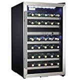 Danby 36 Bottle Electric Wine Cooler Cellar Storage Mini Bar Refrigerator, Black