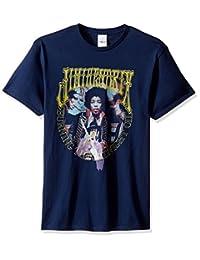 Jimi Hendrix Mens Burning The Midnight Oil T-Shirt