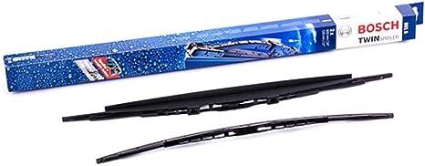 1 paire de balais avant Bosch 607S Balais dessuie-glace conventionnels Twin Spoiler