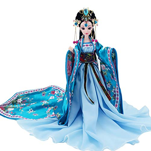 Oriental Decor Doll, Chinese Doll with Silk Costume, Oriental Decorations for Home, Figurine for Home Decor, Room Decor, Bedroom Decor