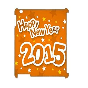 Happy New Year 2015 Design Top Quality DIY 3D Hard Case Cover for iPad 2,3,4, Happy New Year 2015 iPad 2,3,4 3D Phone Case